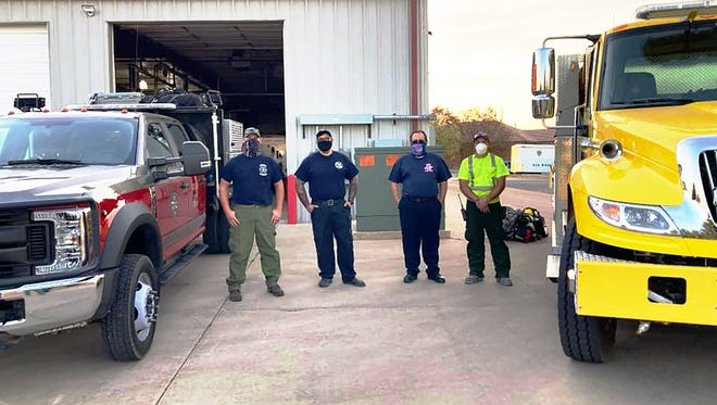 A Pueblo County task force of skilled wildland firefighters prepares to head to Fort Collins to help fight the Cameron Peak Fire.