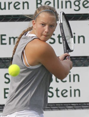 Olentangy Liberty senior Dani Schoenly qualified for her fourth Division I state girls tennis tournament to highlight action on the opening day of district Oct. 15 at Reynoldsburg.