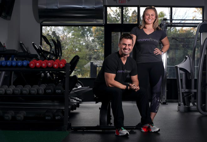 Siblings Eric and Liz Doernhoefer, who own and operate Renovo Fitness studio at Landmark Lofts in Hilliard, are competitive bodybuilders. They are pictured Oct. 14 at Renovo, 5224 Cemetery Road.