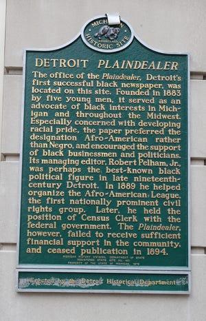 2020 : Detroit Plaindealer Receives Historical Marker