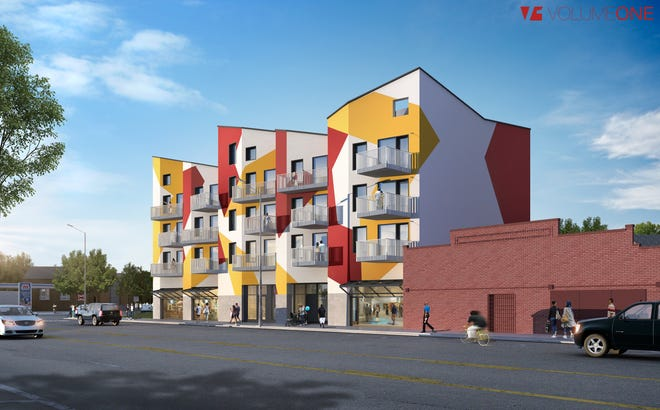 Artistic rendering of the Osi Art Apartments where half of 30 units will be reserved for affordable housing.