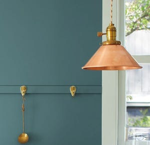 Aegean Teal, a blueish Green, is Benjamin Moore's 2021 Color of the Year.
