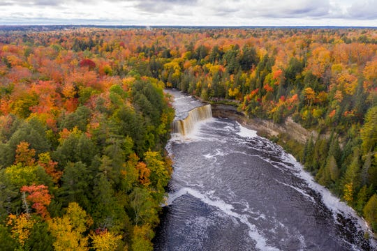 The Upper Falls at Tahquamenon Falls State Park, September 30, 2020.