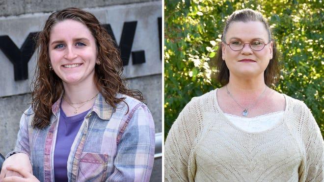 Roy W. Klay Scholars Program recipients, Haily Hill and Susan Morehart.