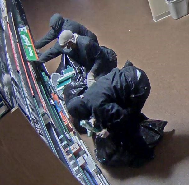 Oneida police are looking for three people who stole $22,000 worth of items early Tuesday from the Oneida One Stop gas station at 501 Packerland Drive, Green Bay.