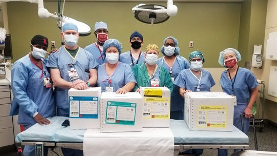 The transplant team at University of Louisville's Trager Transplant Center
