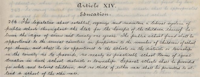 "Section 256 of Alabama's 1901 Constitution established a segregated school system: ""Separate schools shall be provided for white and colored children, and no child of either race shall be permitted to attend a school of the other race."""