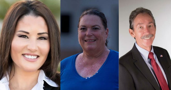 Three candidates are vying for one open seat on the Desert Sands Unified School District schoolboard in the upcoming election. Meet (from left to right) Celeste Fiehler, Tricia Pearce and Doug Hassett.