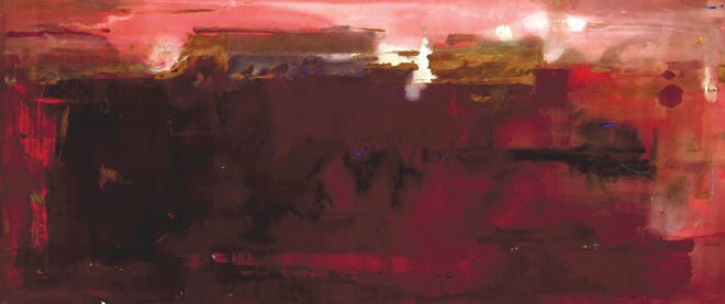 """Helen Frankenthaler's 1979 painting """"Carousel."""" The painting, owned by the Palm Springs Art Museum, is set to go to a Sotheby's auction in October as part of a deaccession plan."""