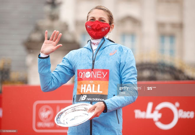 Sara Hall of Flagstaff, second at the London Marathon on Oct. 4, is entered in the Marathon Project elite marathon to be held Dec. 20 in Chandler.