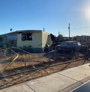 A man was found dead after a fire in a mobile home near 43rd and Southern avenues in Phoenix on Oct. 14, 2020, officials said.