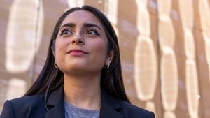 Sukhmani Singh, a 21-year-old ASU student, is working with an organization called Campus Vote to sign up students to be poll workers.