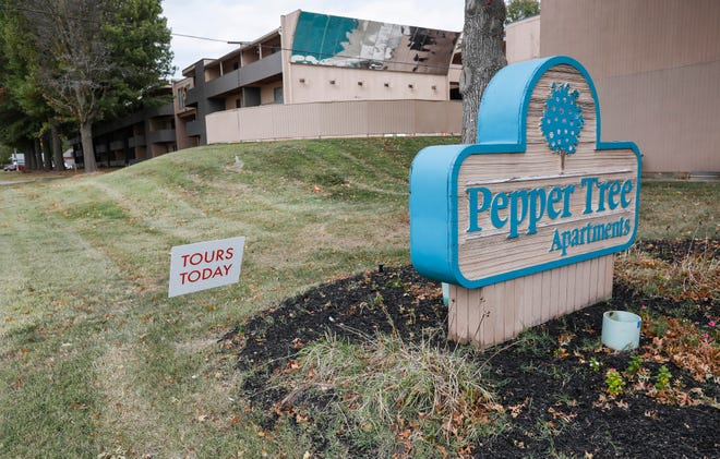 A Springfield man is charged with multiple felonies after firing a gun into an occupied unit at Pepper Tree Apartments.