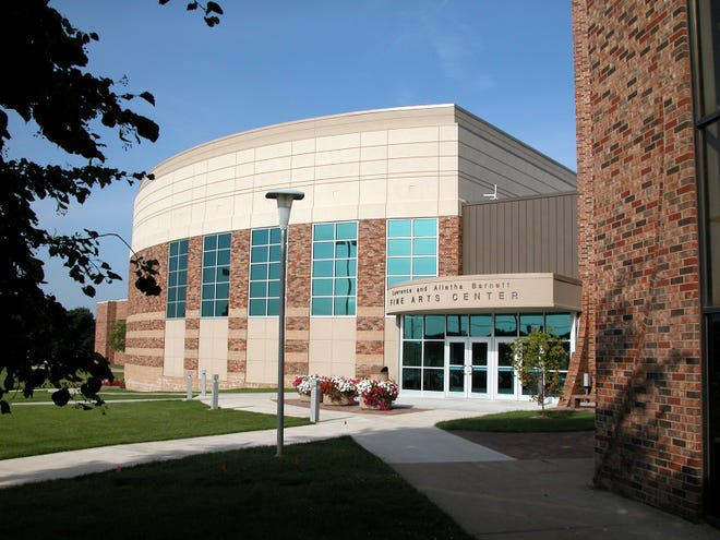 The Barnett Fine Arts Center at Evangel University faces Glenstone Avenue, just south of the Spence Chapel.