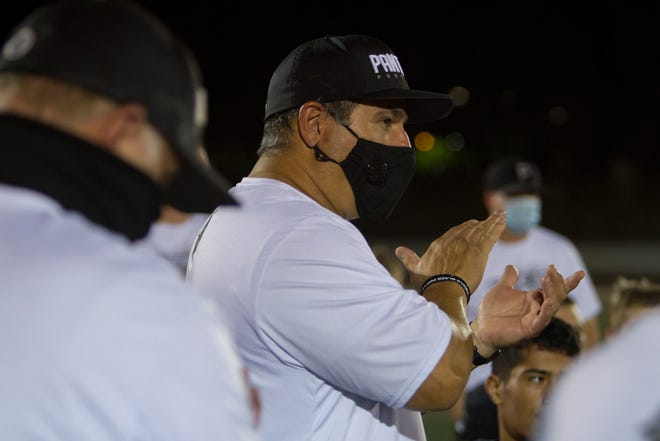 Pine View football defeats Hurricane High 42-0 for the Region 9 win Wednesday, Oct. 14, 2020.