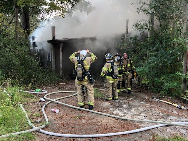 Tallahassee firefighters put out a fire at a vacant home on Vogue Drive Thursday morning.