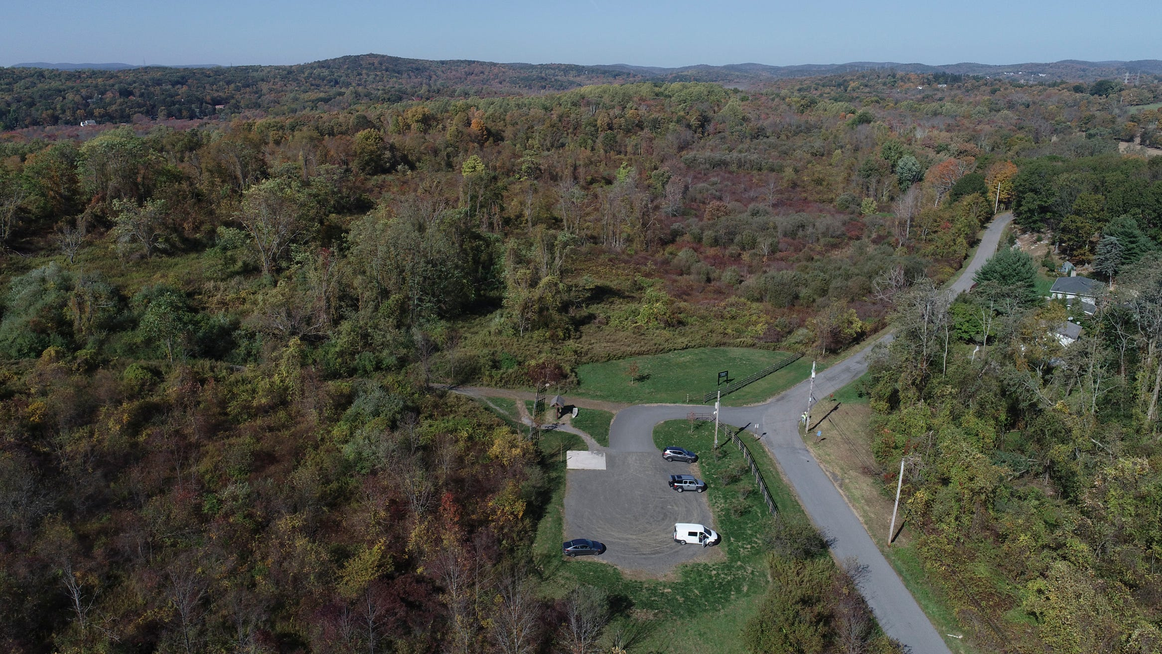 Drone image of the Donald J. Trump State Park in Putnam Valley on Thursday, October 15, 2020.
