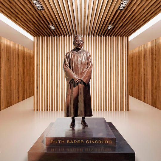 A statue by artists Gillie and Marc depicting the late Justice Ruth Bader Ginsburg will be erected in her hometown Brooklyn in March next year.