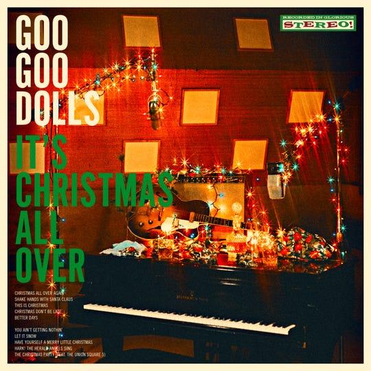 "The cover art for Goo Goo Dolls' ""It's Christmas All Over."""