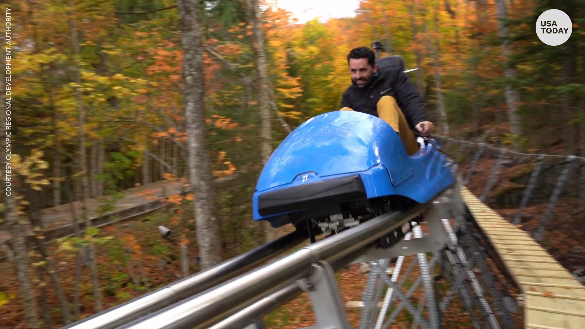 New York just opened the longest mountain coaster in the US in Lake Placid