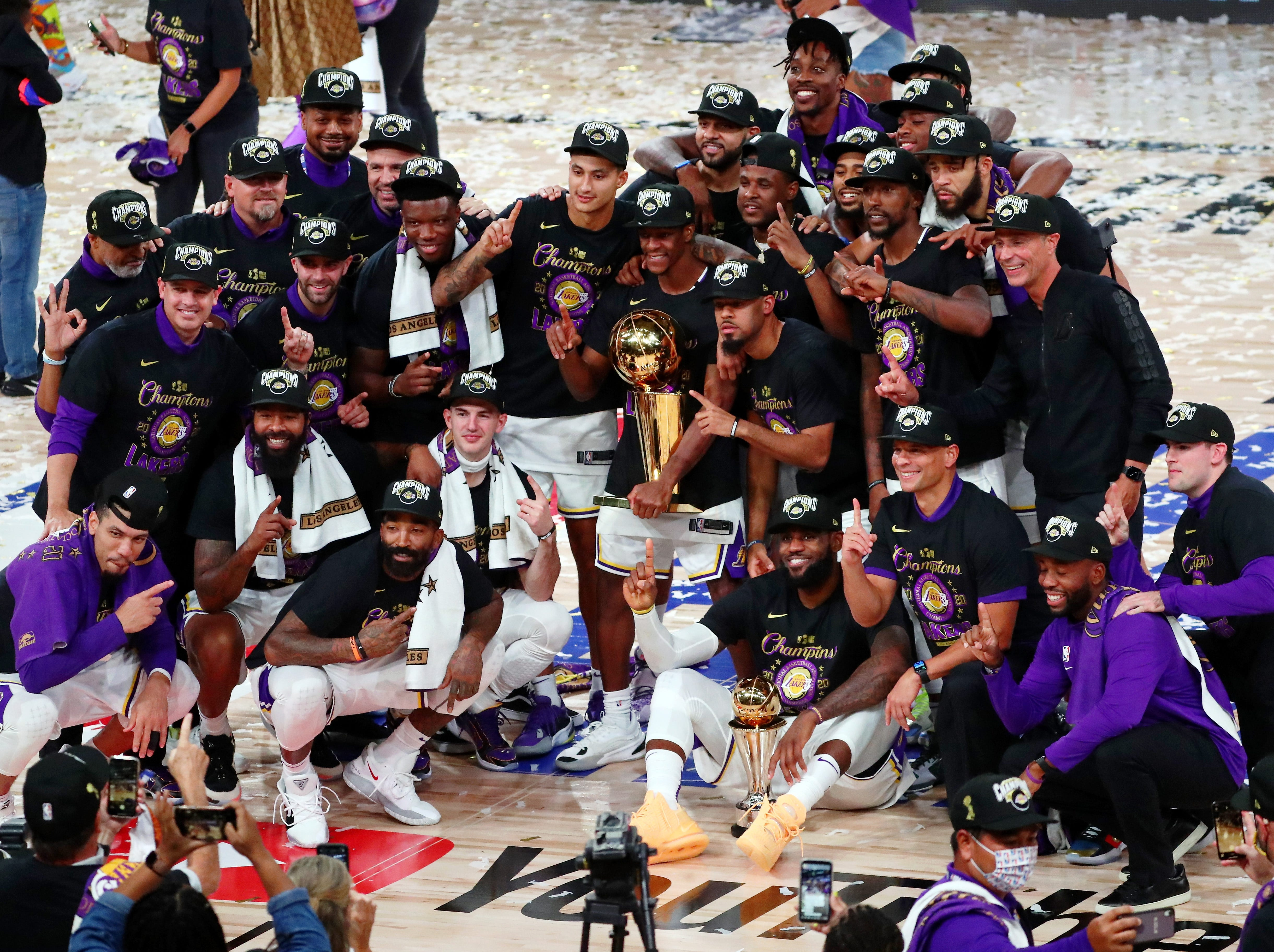 How Former Lakers Celebrated The 2020 Nba Championship