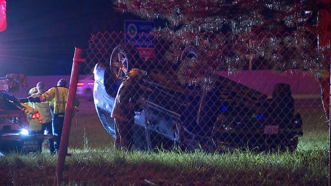 A woman died in a crash Thursday night on state Route 8 in Akron.