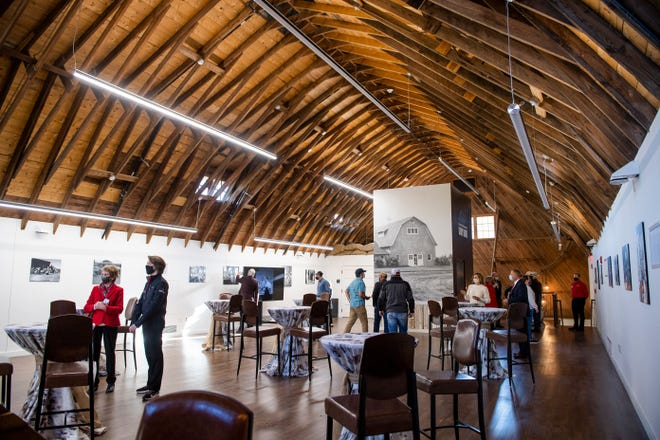 The renovated Dairy Barn kept original elements of the functioning barn for the new event space. Texas Tech University opened the Dairy Barn with a ribbon cutting ceremony on Friday, Oct. 16, 2020, in Lubbock, Texas.
