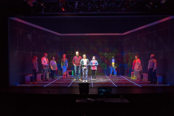 "Erin Murphy, Michael Newman, Macy Dawson, Jennifer Wilkerson, Brandon Graves, Shannon Mashburn, Don Shioman, Zeke Lewis, Tre Butcher and Emmy Estes are members of the cast for Amarillo Little Theatre's upcoming production of ""The Curious Incident of the Dog in the Night-Time"" [Shaie Williams / for the Amarillo Globe-News]"