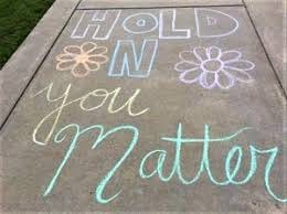 A sign on the sidewalk at a recent suicide prevention walk at Bucks County Technical High School in Bristol Township. A proposed state law would mandate suicide awareness and prevention education for all students grades 6-12. [Photo: COURTESY BUCKS COUNTY]