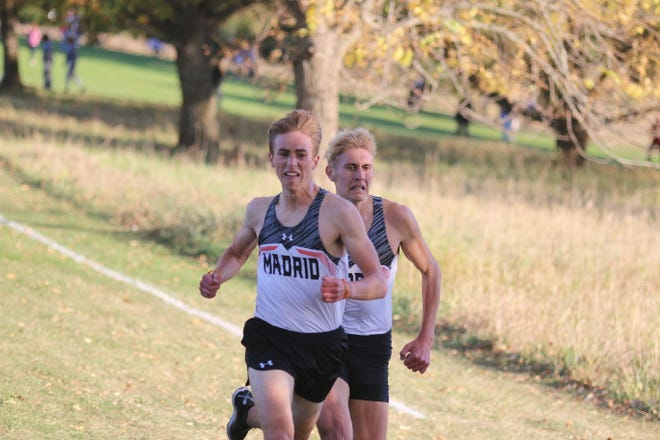 Madrid cross country at the WCAC meet on Thursday, Oct. 15 in Panora.