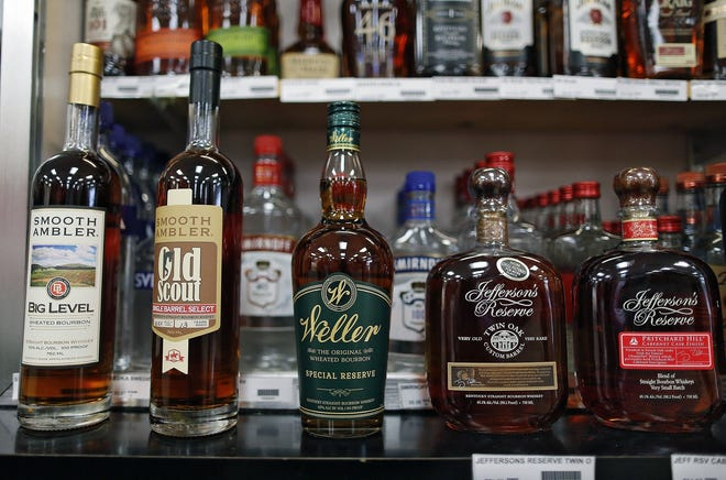 Liquorsales are up markedlyin Ohio in the seven months sincethe COVID-19 pandemic began.