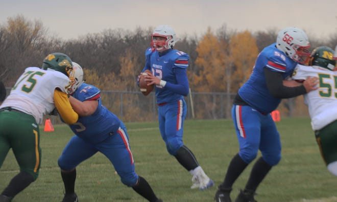 Gavin Walker and the Win-E-Mac football team is 2-1 with a rematch of last year's Section 6 9-man Championship against Fertile-Beltrami coming up on Friday.