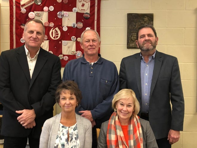 Members of the Orrville City Schools Board of Education.