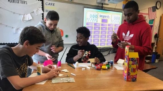 """""""Students learn from one another,"""" says Kristina Failing, principal at Postlethwait Middle School in Delaware. """"Most importantly, the students learn that they are truly more alike than different."""""""