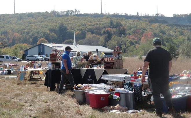 Hawley Ambulance held their first yard sale on their property at 15 Gravity Road, Saturday, October 10. (Photo by Peter Becker)