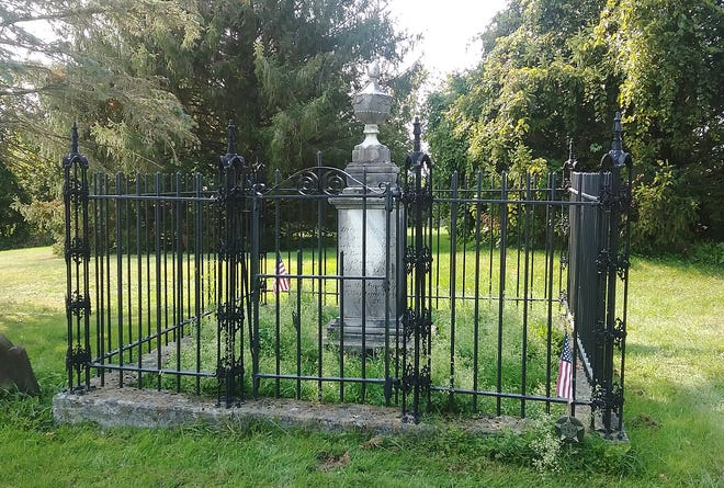 The grave of Col. John Brown located in the burial grounds behind the Stone Arabia Dutch Reformed Church located along Route 10 in Stone Arabia.
