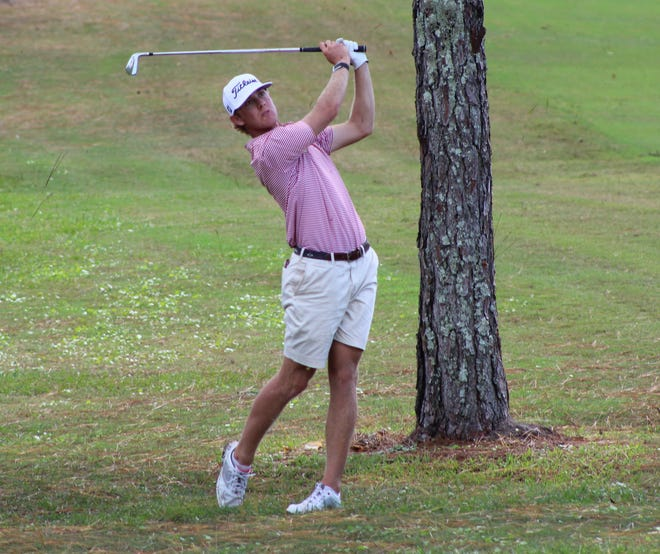 Samuel Anderson follows his ball flight during the final round of the St. Augustine Amateur on Oct. 11, at the St. Johns Golf Club.