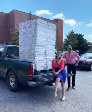 Onslow Women's Center recently received a generous donation of over 110 boxes of toilet paper from Publix Supermarket.