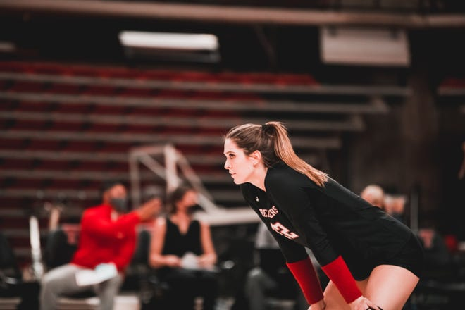 Samantha Sanders has been a big-time transfer, amassing a team-best 79 kills for Texas Tech. The former Texas A&M outside hitter recorded 44 kills last weekend in a road split against TCU.