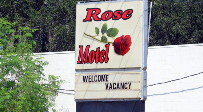 The Rose Motel office, located at 815 Sixth St. NW in Winter Haven, is open despite the fact there was a double homicide at the motel Tuesday night.