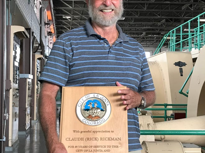 Claude Rickman retired from service to the City of La Junta in September.