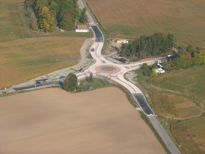 Ontario County officials hope a roundabout at the intersection of County Road 28 and Shortsville Road will make travel safer in this rural section of Farmington.