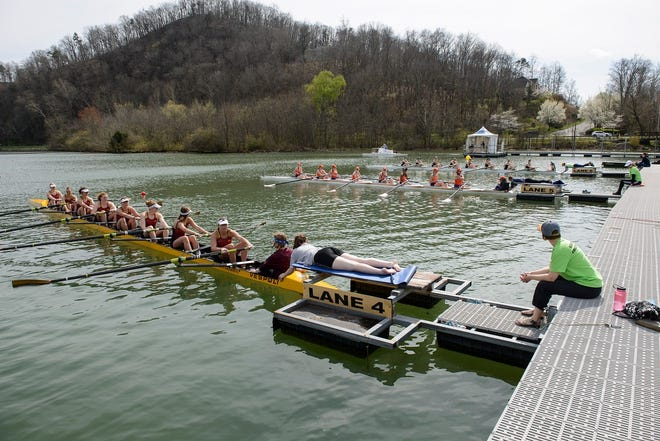 Rowers get ready to race at a previous Oak Ridge event.