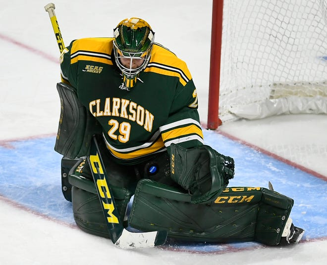 Jake Kielly played college hockey at Clarkson before joining the Vancouver Canucks organization for his first pro season in 2019.