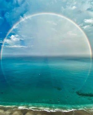 Full circle rainbow captured by Singer Island resident @ajinstalife. Courtesy Singer Island Scenes @singerislandscenes