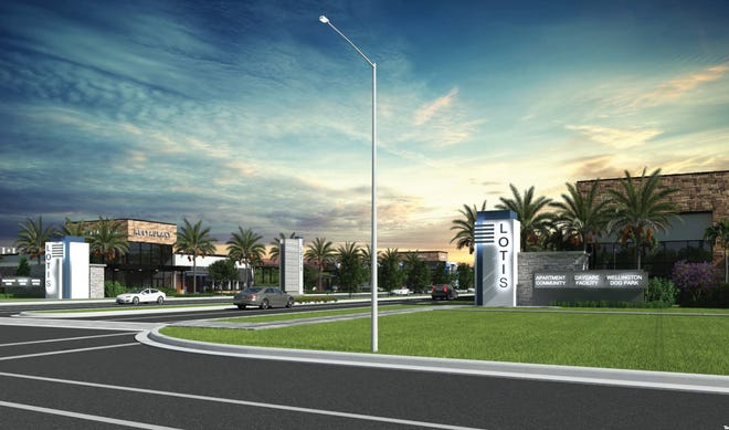 This rendering shows the proposed Lotis development in Wellington.