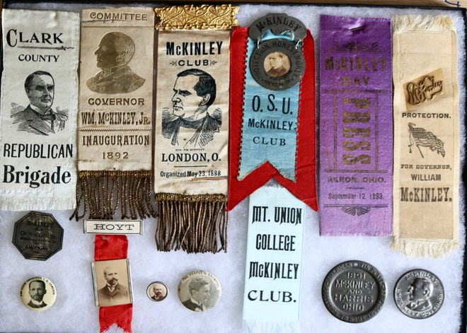 Ribbons, buttons and souvenir coins marked the gubernatorial and presidential campaigns of William McKinley, the Cantonian who became both governor of Ohio and the 25th president of the United States. Such memorabilia will be displayed at the Political and Pop Culture Show Friday Oct. 23 and Saturday Oct. 24 at MAPS Air Museum at Akron-Canton Airport.