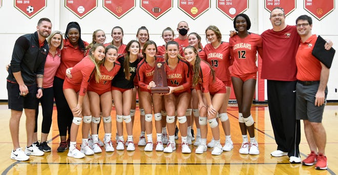 The Cardinal Mooney Catholic volleyball team is one of three area teams remaining in the regional tournament. The Cougars head to Community School of Naples on Tuesday. Venice High and Port Charlotte High are on the road Wednesday at Fort Myers High and Naples Barron Collier High, respectively.