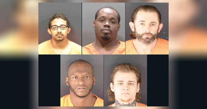 """Sarasota County Jail inmates Alexander Caraballo, 20; Kailin Brown, 28; Joshua Wirick, 39; Shelton Chatman, 31; and Travis Stewart, 25; have filed petitions with the U.S. District Court for the Middle District of Florida to be """"immediately released"""" from jail because of the threat of COVID-19 to inmates."""
