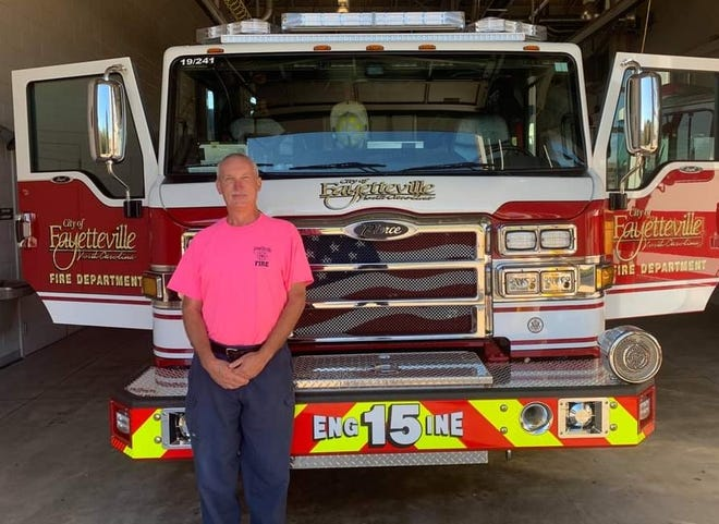 The Fayetteville Fire Department is supporting Breast Cancer Awareness Month. Proceeds from pink T-shirt  sales went to an organization with the goal of preventing cancer among firefighters.